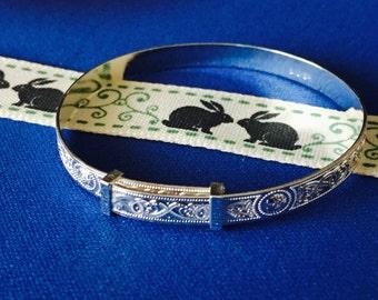 Baby Bracelet Traditional Celtic Design  sterling silver.925.. adjustable