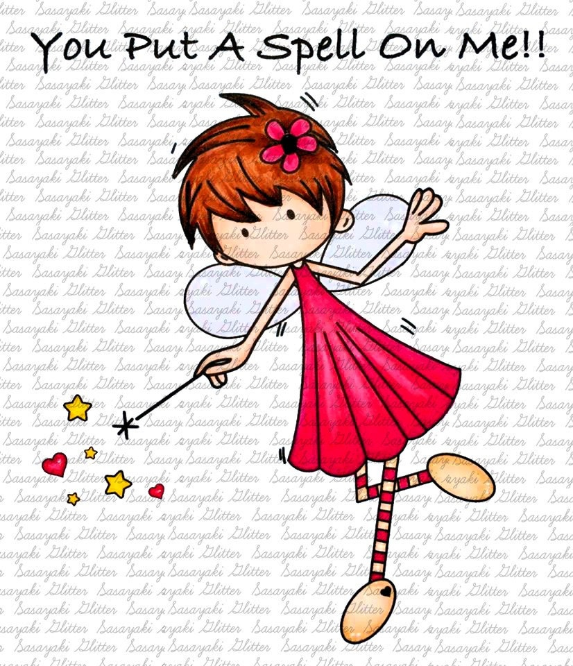 You Put A Spell On Me Digital Stamp By Sasayaki Glitter
