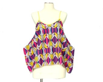 Tribal Wing Pink Top / Cotton