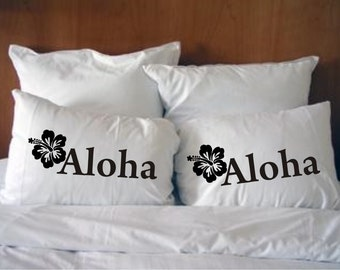 Aloha Pillowcases w/free Personalized bag, Christmas Gift Style #43