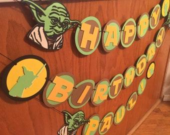 Yoda Banner, Star Wars Birthday, Star Wars Banner, Birthday, Yoda Birthday, Yoda Birthday Banner, Yoda Sign, Yoda, Star Wars Décor