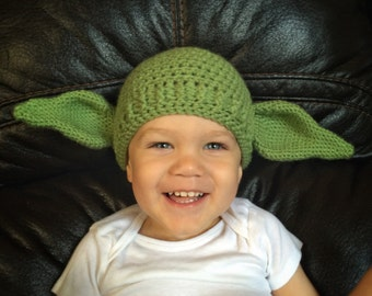 Yoda hat, Star Wars hat, baby-adult sizes