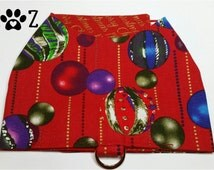 Red Bauble Christmas Harness Walking Vest Small #2