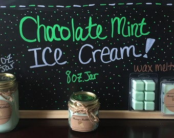 Chocolate Mint ice cream candle