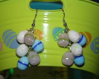 Glass Easter Egg Earrings