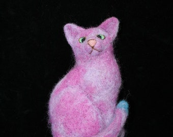 Cat out of felt