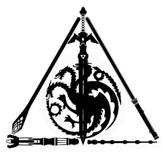 Harry Potter Deathly Hallows Decal Star Wars Lord Of The