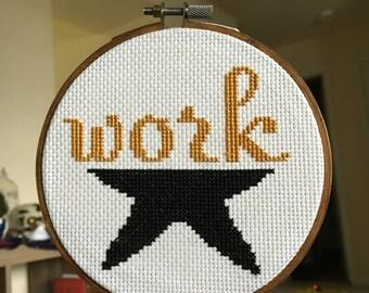 WORK - Hamilton Musical Cross Stitch