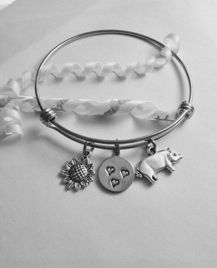 Pig Charm Bracelet: Pig Bracelet Pig Gifts Pigs Pig Jewelry Christmas Gift For