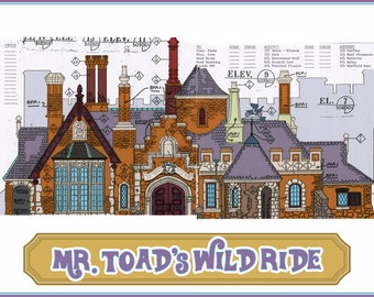 Disneyland - Fantasyland - Mr. Toad's Wild Ride - Blueprint