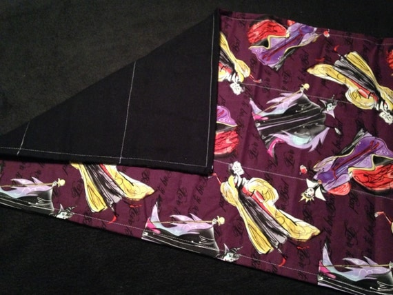 Washable Weighted Lap Pad/Small Blanket/Travel Weighted Blanket 3 pounds.  14.5x22 Ready to Ship Villain Theme