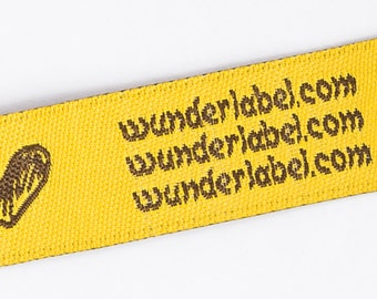 Clothing Labels - Text & Symbol Labels Only 18 USD for 50 custom label fabric label knitting label personalized label quilt label