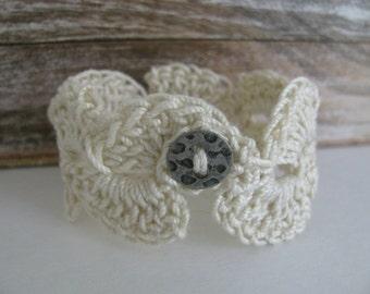 Bracelet lace bracelet/cotton crochet hook/wedding/jewelry