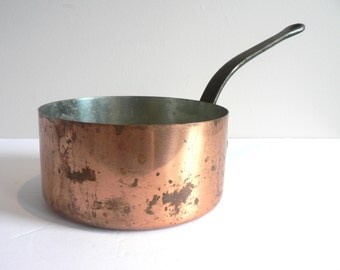 french copper sauce pot copperware copper kitchen vintage french copper pot medium - Copper Pots