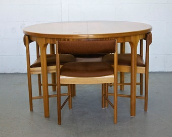 SOLD SOLD Sold!!          Retro Mid Century Danish Style McIntosh Teak Dining Table 4 Chairs