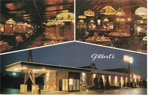 Jackson, Michigan - Gilbert's Steak House - Postcard
