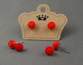 LEGO Earring Stud - Red