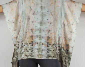 Silk tunic ROSE PETALS