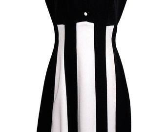 Dress vintage stripes black and white pin-up
