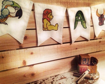 Personalized Canvas Letter Flags