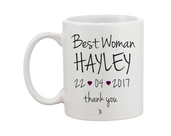 Personalised Best Woman / Bridesmaid / Maid of Honour / Mother of the Bride / Groom Mug - Bridal Party - Wedding - FREE UK SHIPPING