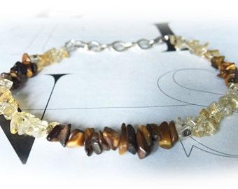 Citrine and Tigers eye bracelet