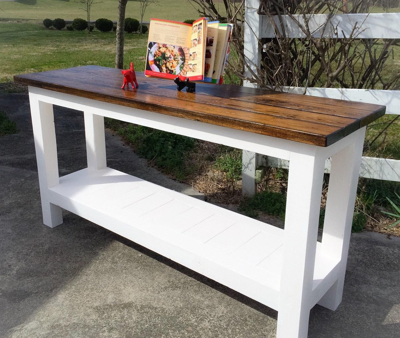 Farmhouse Table As Kitchen Island: Farmhouse Kitchen Island Rustic Kitchen By EastTnFurnishings