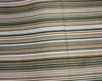 Faye Bargos for Marcus fabrics. Shades of green and cream stripes