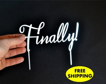 Finally Cake Topper Gold Wedding Cake Toppers FREE SHIPPING