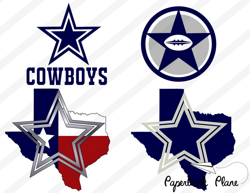 Dallas Cowboys Nfl SVG PNG Cut Files For Use By Paperbackplane