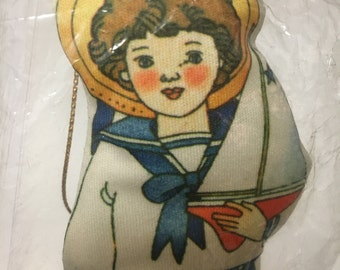 Vintage Avon Ornament, Sailor Boy with Toys and Dog
