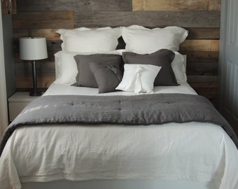 "Duvet cover / 100% flax / double bed / 84 ""x 90"""