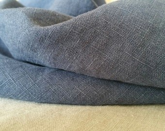 Washed Linen Dressmaking Fabric - Chambray Blue