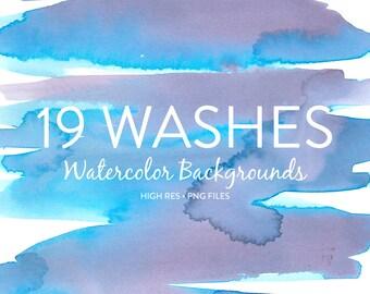 Watercolor Backgrounds - 19 Watercolor Background Washes / Watercolor Background Textures