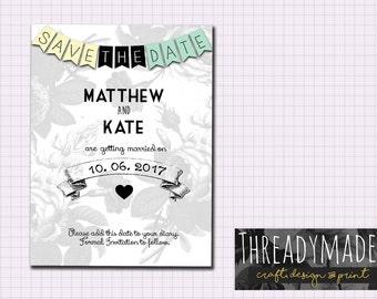 Save The Date Wedding Printable