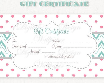 digital gift certificate template  Photography Gift Card Template Digital Gift Certificate