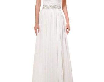 2016 Hot solemn elegant White / Ivory Bridal Gown Wedding Dress Custom Size6-16+