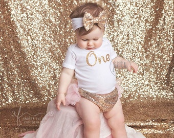 first birthday outfit, girl 1st birthday outfit, pink and gold outfit, second birthday outfit, glitter gold outfit, sparkle gold, posh