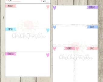 WO2P Personal Planner Printables For Kikki.K Medium, Color Crush Personal,Filofax Personal and other personal planners{INSTANT DOWNLOAD