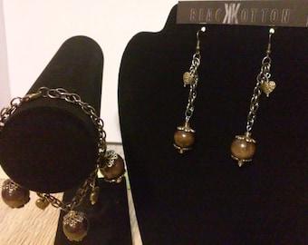 Vintage Earrings and Bracelet - set