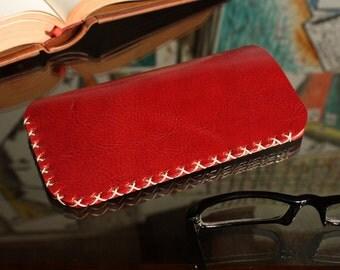 Leather Eye Glasses case,Leather Handmade Eye Glasses sleeve case