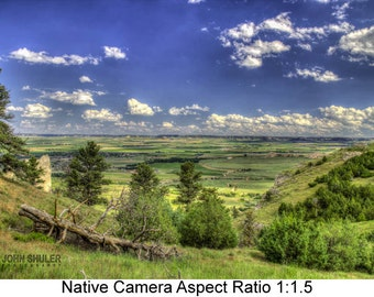 Scott's Bluff Vista: Landscape art photography prints for home or office wall decor.