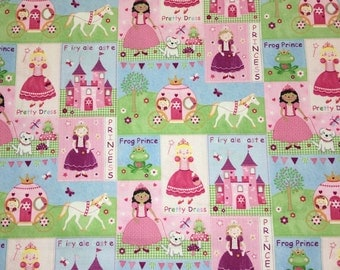 Fairytale Castle Princess Apparel Quilting 100% Cotton Fabric 1 Full Yard