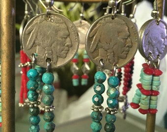 Americana Vintage Western Style Earrings
