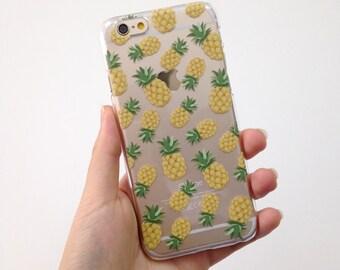 Pineapple iPhone 8 Plus case iPhone X case iPhone 7 case iPhone case Samsung Galaxy Note 8 case Samsung Galaxy S7 edge case clear phone case