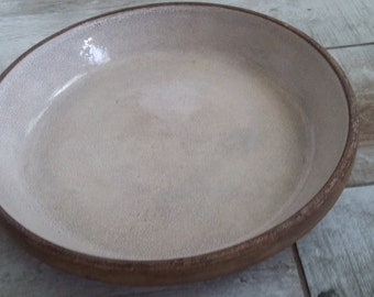 1930's Neu Deel glazed stoneware pie pan and lid