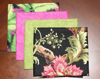 Wilmington Prints, Free Spirit and Quilting Treasure's fat quarter combinations, a 4 piece bundle.