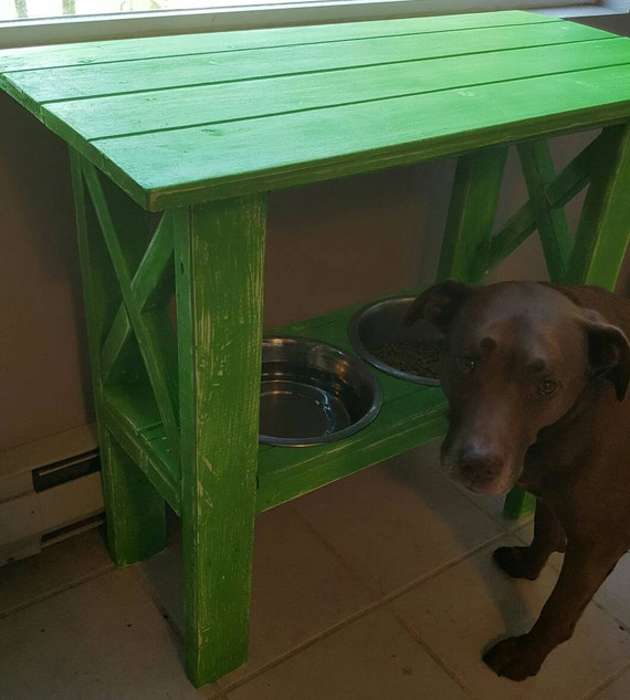 Dog Console Table ~ Items similar to console table with dog bowl insert