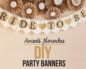 """DIY Party Banners -Banderines """"Templates / Moldes"""""""