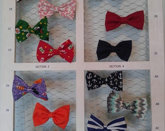 Seasonal and everyday hair bow / clip-on bow tie for children